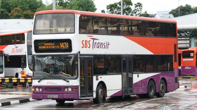 Service 147A - SBS Transit Dennis Trident (SBS9673A)