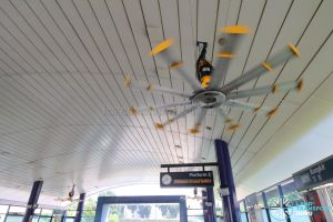 Ceiling Fan at Bangkit LRT Station