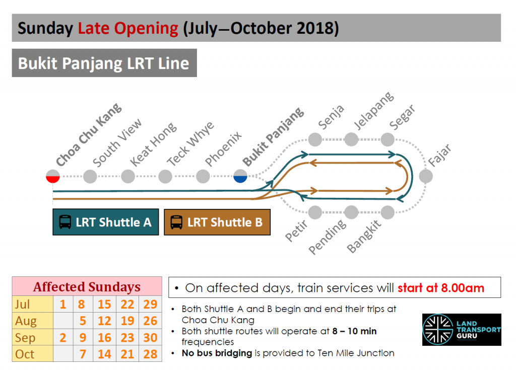 BPLRT Sunday Late Openings: Jul-Oct 2018