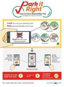 LTA Poster on QR Code Parking System for Shared Bicycles