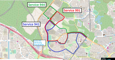 Bukit Batok West Bus Network from July 2018 (Map: OpenStreetMap)