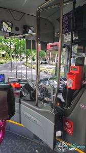 Driver protective screen on SBS Transit Mercedes-Benz Citaro