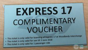 Express 17 Complimentary Voucher