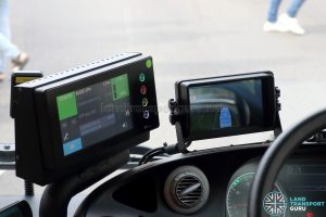 I-SAW-U: Driver Display mounted next to Trapeze CFMS