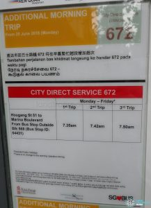 Additional Morning Trip for City Direct 672 Poster