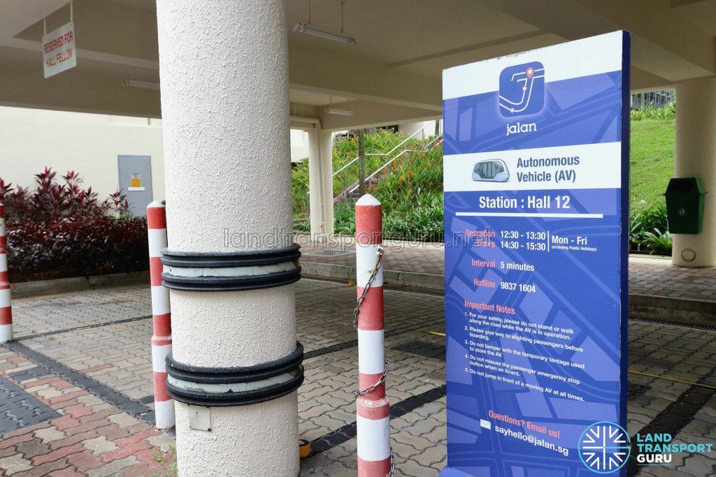 Jalan Autonomous Vehicle Station - NTU Hall of Residence 12