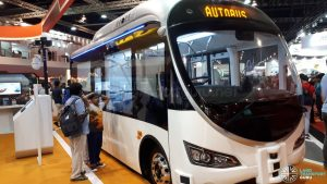 ST Autobus featured during the Singapore Airshow 2018