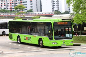 Task Force 50 Training Bus - SMRT Buses Mercedes-Benz Citaro (SG1128Y)