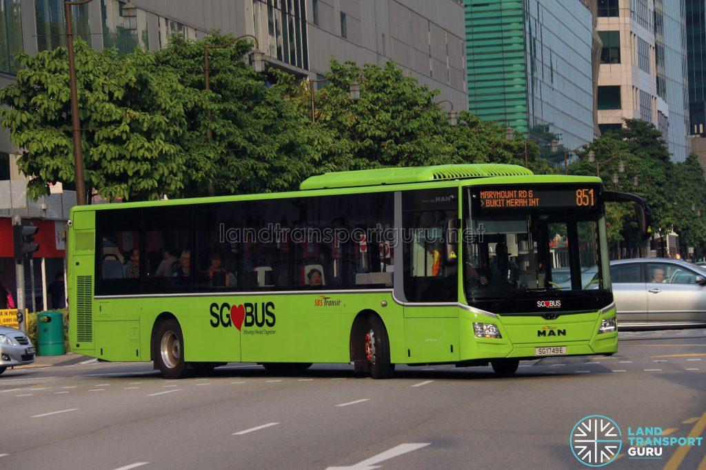 Service 851 - MAN A22 (SG1749E)