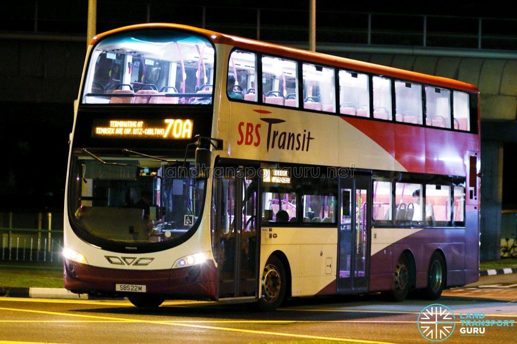 Service 70A - SBS Transit Volvo B9TL Wright (SBS22M)