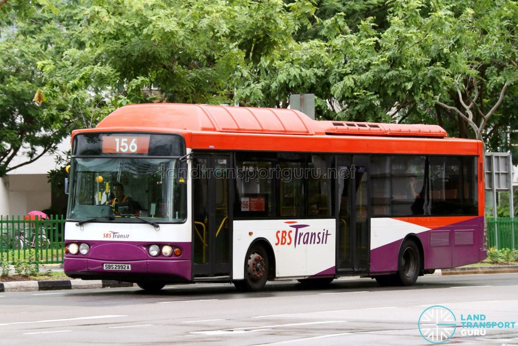 Service 156 - SBS Transit Volvo B10BLE CNG (SBS2992A)