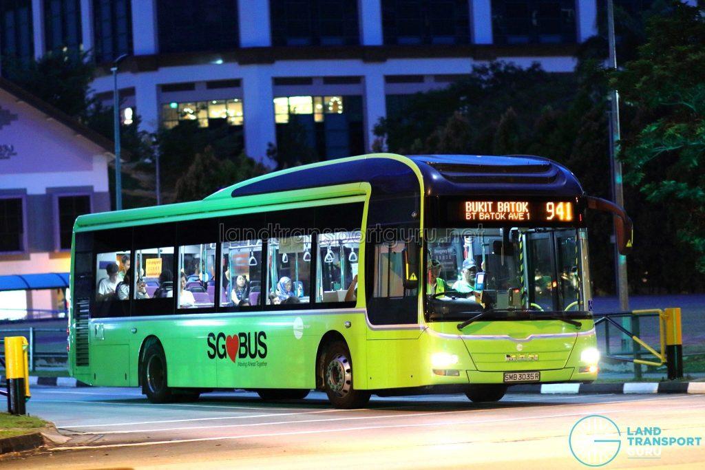 Service 941 - Tower Transit MAN A22 (SMB3035R)