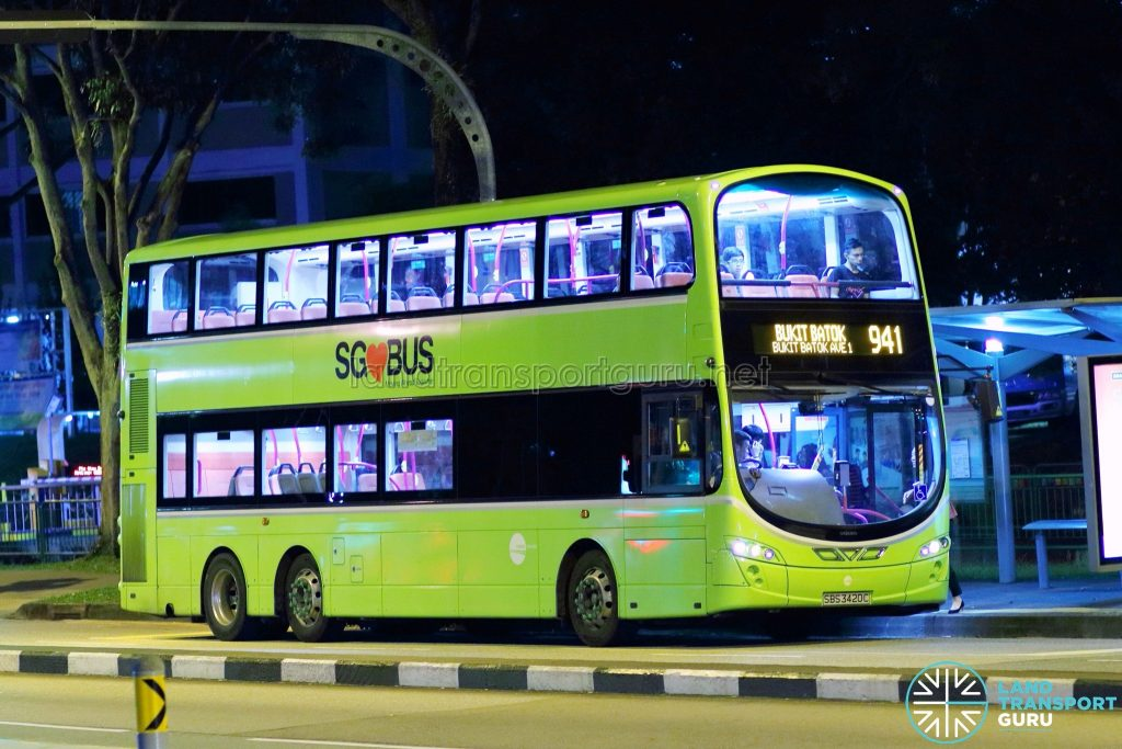 Service 941 - Tower Transit Volvo B9TL Wright (SBS3420C)