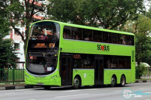 Service 974 - Tower Transit Volvo B9TL Wright (SG5005S)