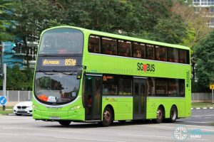 Service 851e - SBS Transit Volvo B9TL Wright (SG5133E)