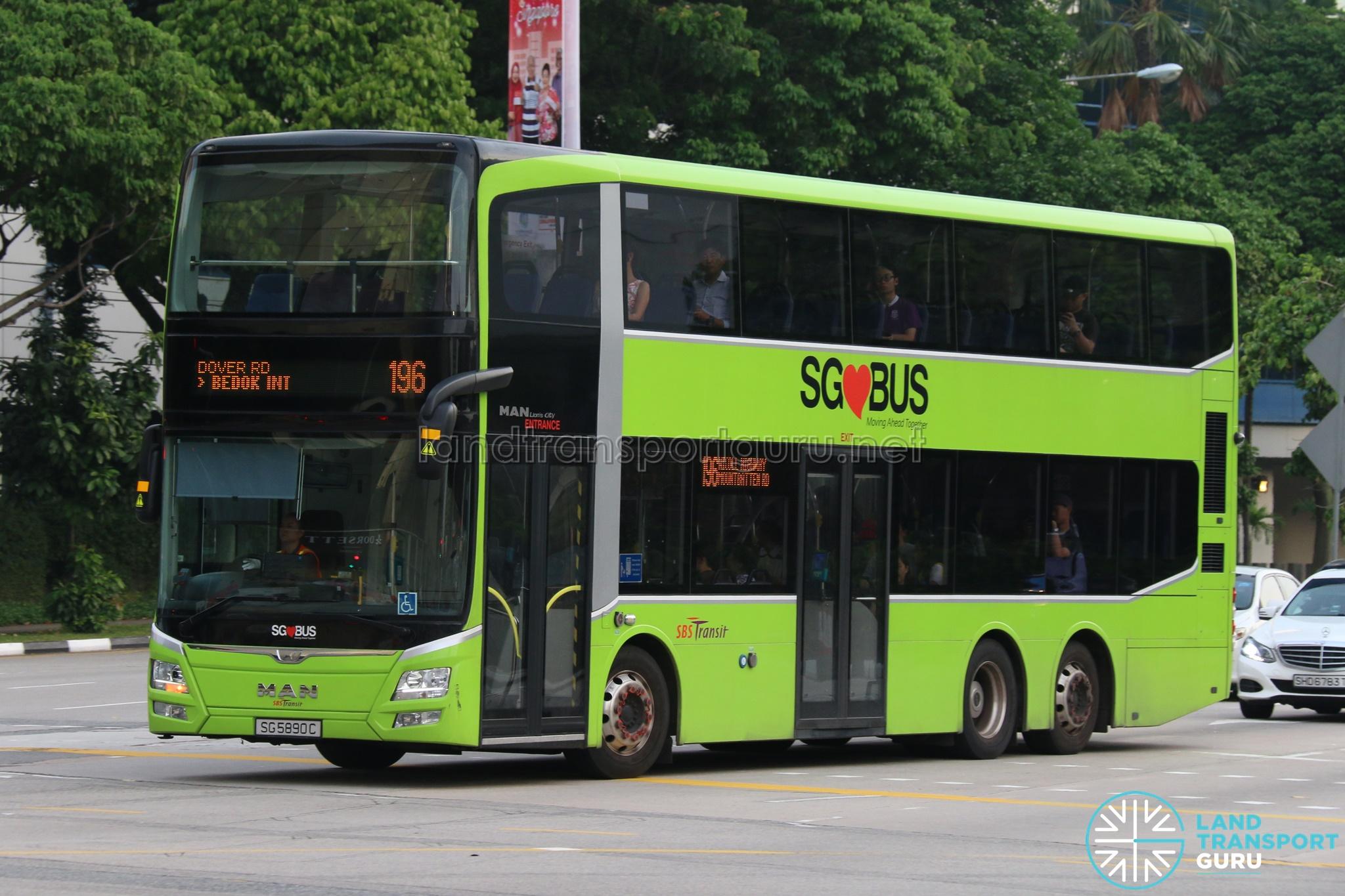 SBS Transit Bus Service 196 | Land Transport Guru