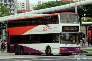 Service 74 - SBS Transit Dennis Trident (SBS9677P)