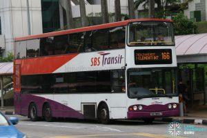 Service 166 - SBS Transit Volvo B10TL (SBS9806J)