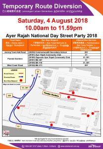 SBS Transit Poster for Ayer Rajah National Day Street Party 2018
