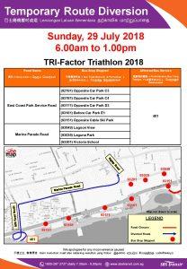 SBS Transit Poster for TRI-Factor Triathlon 2018