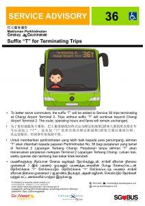Go-Ahead Advisory - Service 36T