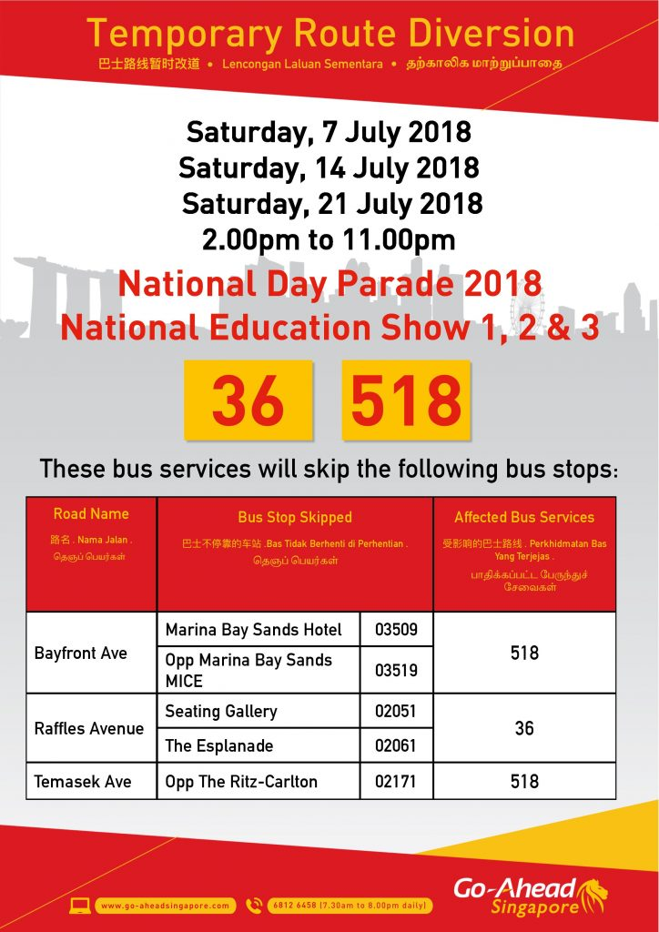 Go-Ahead Singapore Poster for NDP 2018 - NE Shows 1 - 3