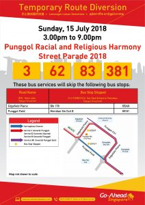 Go-Ahead Singapore Poster for Punggol Racial and Religious Harmony Street Parade 2018