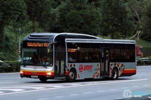 City Direct 657 - SMRT Buses MAN A22 (SMB1614H)