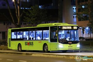 Service 991A - SMRT Buses MAN A22 (SG1752U)