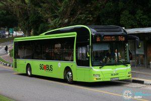 Service 96B - Tower Transit MAN A22 (SMB3022C)