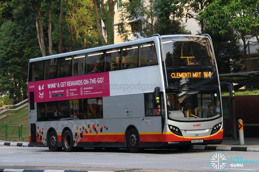 Service 184 - SMRT Alexander Dennis Enviro500 (SMB5051E)
