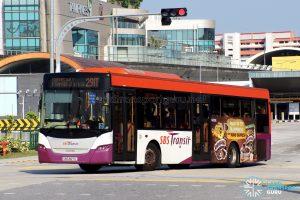 Service 291T - SBS Transit Scania K230UB Euro V (SBS8671L)