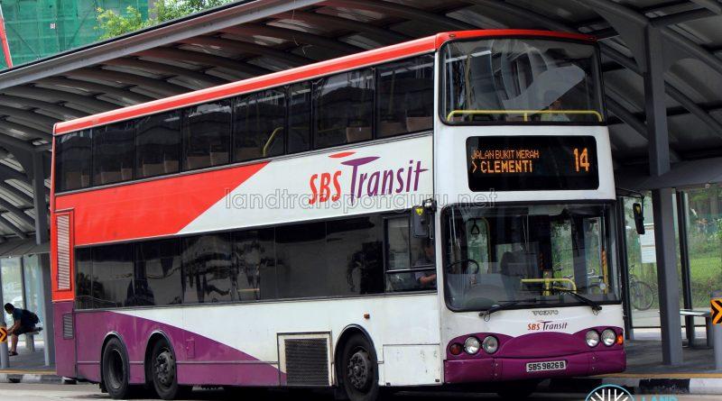Service 14 - SBS Transit Volvo B10TL (SBS9826B)