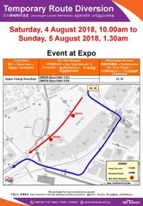 SBS Transit Poster for Event at Expo (Aug 2018)