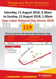 Go-Ahead Singapore Poster for Paya Lebar National Day Dinner 2018
