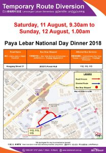 SBS Transit Poster for Paya Lebar National Day Dinner 2018