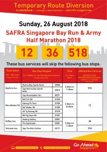 Go-Ahead Singapore Poster for SAFRA Singapore Bay Run & Army Half Marathon 2018