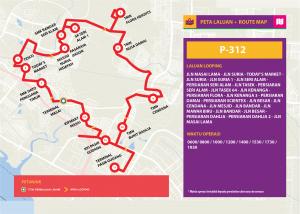 Bas Muafakat Johor P312 - Route Map