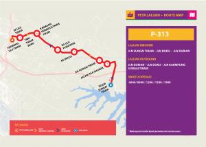 Bas Muafakat Johor P313- Route Map