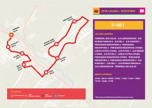 Bas Muafakat Johor P401- Route Map