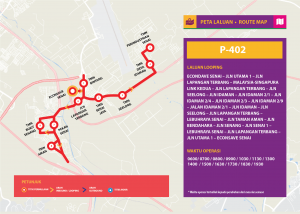 Bas Muafakat Johor P402- Route Map