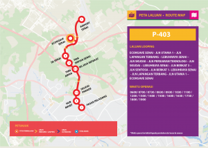 Bas Muafakat Johor P403- Route Map