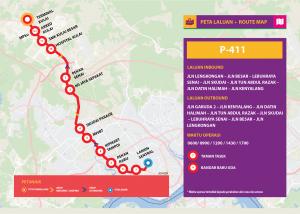 Bas Muafakat Johor P411- Route Map