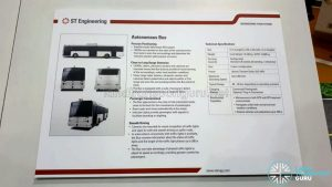 Specification Sheet for the ST Autonomous Bus