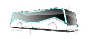 STE Autonomous Bus (Concept Sketch)