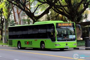 Free Bridging Bus (EWL) - SMRT Buses Task Force 50 Mercedes-Benz Citaro (SG1020Z)