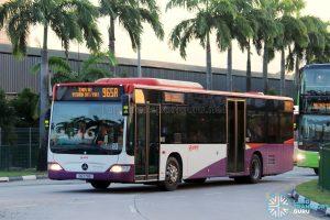 Service 965A - SMRT Buses Mercedes-Benz Citaro (SG1179A)