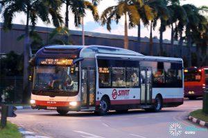 Service 911T - SMRT Buses MAN A22 (SMB1373C)