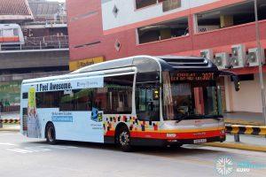 Service 307T - SMRT Buses MAN NL323F (SMB1641D)