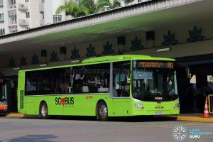 Service 991 - SMRT Buses MAN NL323F (SG1753S)